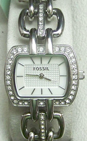 Fossil Womens Glitz link watch Fashion Dress ladies Wristwatch ES2837