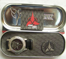 Star Trek Klingon Fossil Watch Set Li1414 in Matching tin case