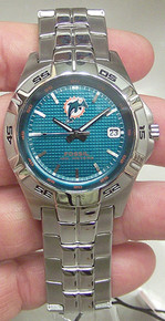 Miami Dolphins Fossil Watch. Mens NFL1105 Three Hand Date