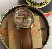 Shell Oil Fossil Watch Rare 1996 Vintage License Plates Wristwatch