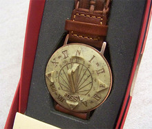 Fossil Sun dial Watch SD-7629 Brown Braided Band Sundial