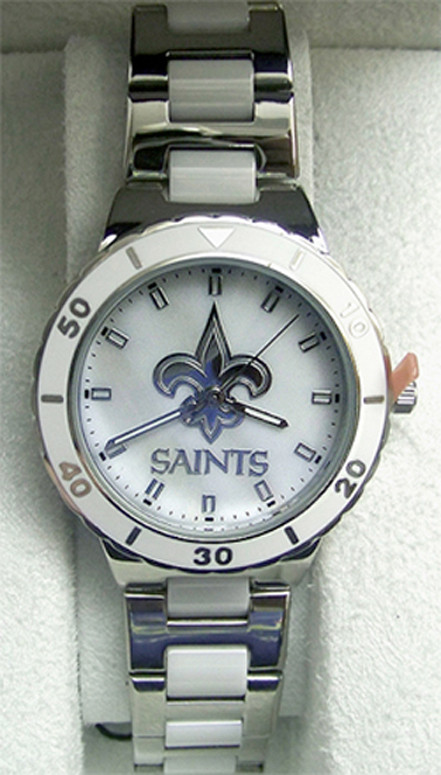 New Orleans Saints Watch Ladies Game Time MOP Pearl Womens NFL-PEA-NO.  Price   69.95. Image 1 349f36f0a