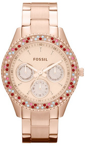 Fossil Ladies Watch Rose Gold Multifunction Womens ES3198 Wristwatch