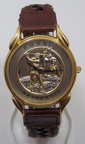 Fossil Golfer Watch Vintage Golf theme mens wristwatch LE-9431