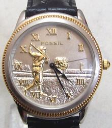 Fossil Golfer Watch Vintage Golf theme mens wristwatch SE-1003