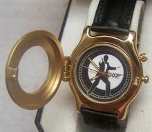 James Bond 007 Fossil Watch Mens Gold Lmt Ed Goldfinger Wristwatch