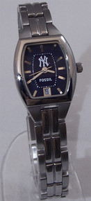 New York Yankees Fossil Watch Womens Three 3 Hand Date Cushion MLB1013