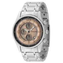 Fossil Mens Chronograph Watch JR9938 Antiqued style Copper dial