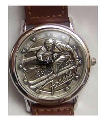 Fossil Skier Watch Vintage Ski theme mens wristwatch LE-9454