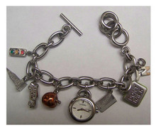 Fossil NYC New York City Charm Bracelet Watch ES-1344