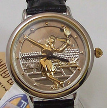 Fossil Womens Tennis Player Watch Vintage Ladies Leather band LE9453L