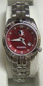 FSU Florida State Fossil Watch Womens Sport Wristwatch LI2927