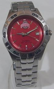 Ohio State Buckeyes Fossil Watch Mens Three Hand Date Wristwatch