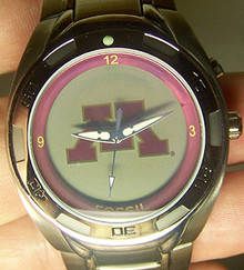 Minnesota Golden Gophers Fossil Kaleido Watch Li2322