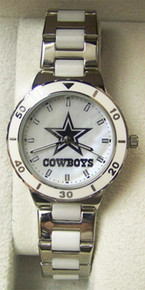 Dallas Cowboys Mother of Pearl Watch GameTime Womens NFL-PEA-DAL