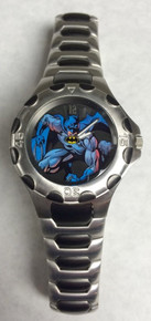 Fossil Batman Watch Colorized Mens Li2054 Wristwatch Ltd Ed, PreOwned