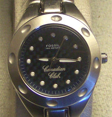 Canadian Club Watch Fossil Womens Promo SS Wristwatch