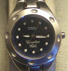 Canadian Club Watch Fossil Womens Promo SS Wristwatch