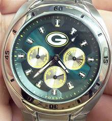 Green Bay Packers Watch Fossil Mens Multifunction wristwatch NFL1034