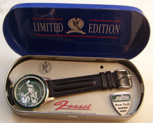 New York Jets Fossil Watch Vintage Mens Collectible Set 1994