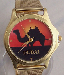 Fossil Dubai United Arab Emirates Camel Watch UAE Novelty Wristwatch