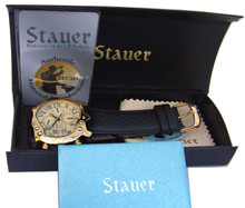 Stauer Gold Fused Guitar Watch Mens Multifunction Automatic Wristwatch