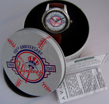 New York Yankees Watch 100 Years Anniversary Wristwatch 1903-2003 Avon