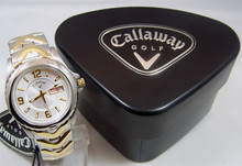 Callaway Golf Watch Mens Three Hand Day Date 2 Tone Wristwatch CY2060