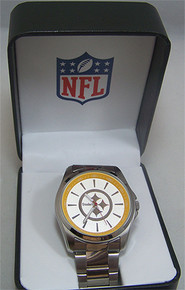 Pittsburgh Steelers Watch Avon Release Game Time SS Wristwatch Mens