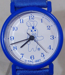Pillsbury Doughboy Watch Poppin Fresh TPC Vintage Novelty Wristwatch