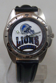 Detroit Lions Watch  Fossil Vintage 1995 Watch on Black Leather Band