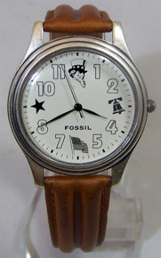 Fossil Patriotic Watch Celebrate America Vintage Wristwatch SC1005 New