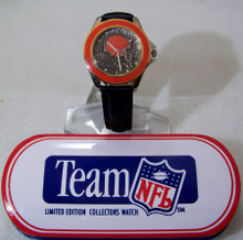 Cleveland Browns Fossil Watch Vintage Mens Li1071 Wristwatch with Tin