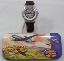 Fossil Airplane Watch Vintage 54 Pilots Aircraft Wristwatch LE-9475