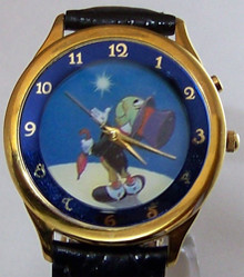 Jiminy cricket Watch Disney Artists Signature Series Wristwatch Artist Signed