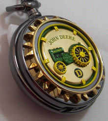 John Deere Pocket Watch Model D Tractor Franklin Mint le Pocketwatch