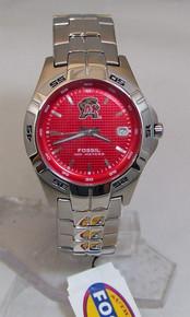 Maryland Terrapins Fossil Watch Mens Three Hand Date Wristwatch Li2952