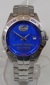 Florida Gators 2006 Football Champions Watch Fossil Mens Li2747 New