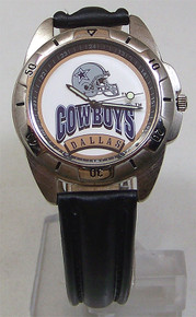Dallas Cowboys Watch Fossil Mens Vintage 1995 Wristwatch With Tin, New