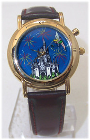 Tinker Bell Watch Disney World 25th Anniversary Backlit Wristwatch