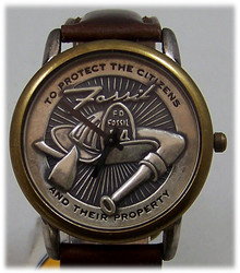 Fossil Fireman Watch Firefighter themed Vintage Collectible Wristwatch