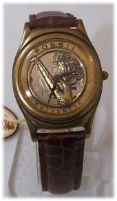 Fossil Saxophone Watch Vintage Sax Jazz musicians brown wristwatch