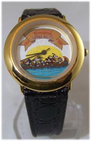 Disney Mickey Mouse Watch 30th Disneyland Canoe Race Rare Lmt Ed