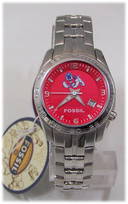 Fresno State Bulldogs Fossil Watch Womens Sport Wristwatch Li2994