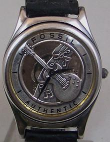 Fossil Guitar Watch Guitarist Band Musician Themed Vintage Wristwatch