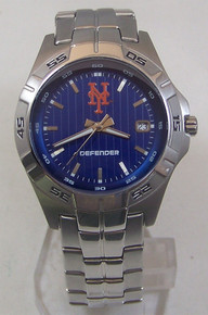 New York Mets Fossil Watch Mens Three Hand Date Wristwatch