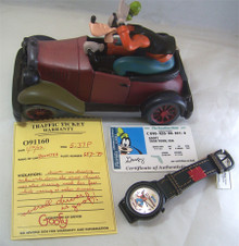 Goofy Watch Car with Driver's License and Citation Set LE Wristwatch