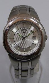 Callaway Golf Watch Mens 3 Hand Date Stainless Wristwatch CY2006 New