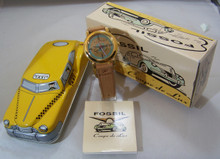 Fossil Coupe De Lux Watch Mens Vintage Collectible in Taxi Tin RM2558
