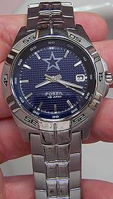 Dallas Cowboys Fossil Watch Mens Three hand Date Wristwatch NFL1223